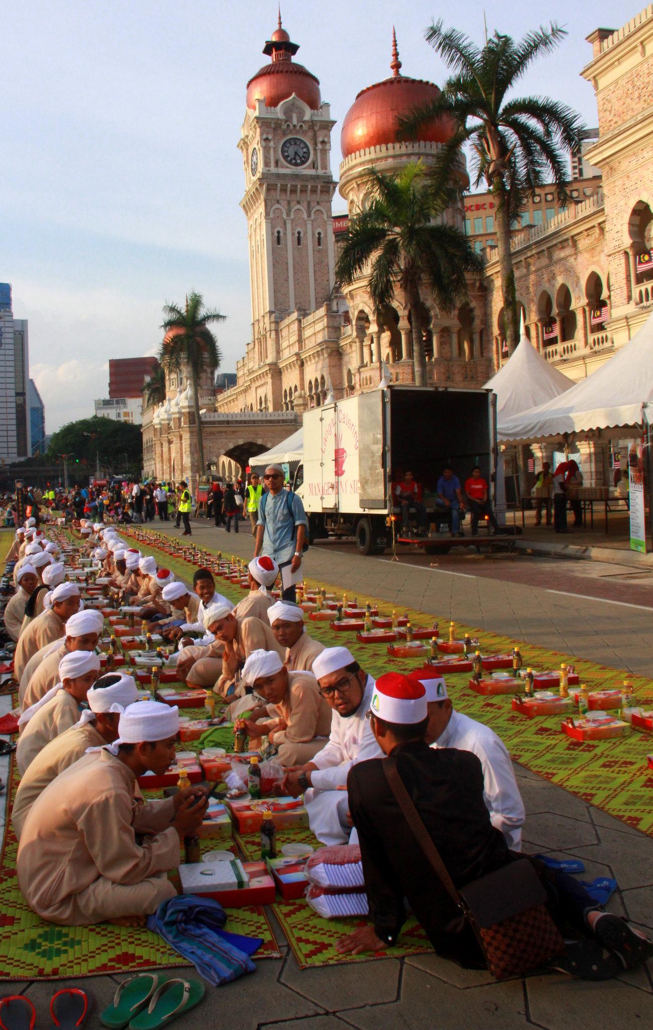 Ramadan feast at Mederka Square in Kuala Lumpur