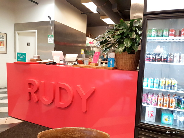 counter at Rudy Restaurant