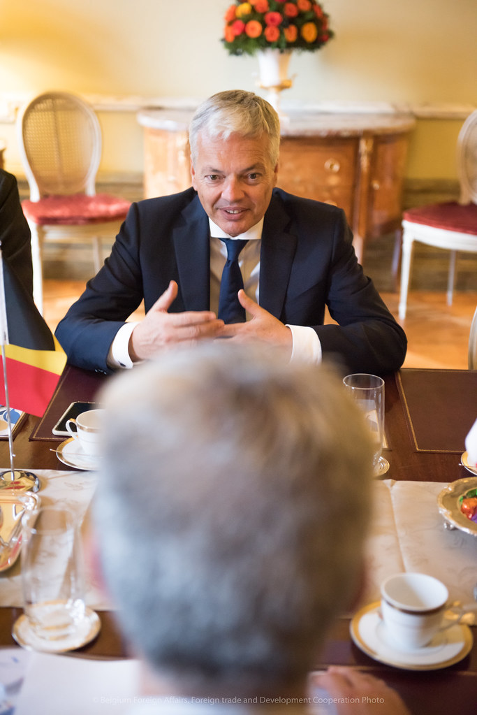 Meeting Didier Reynders & Carmelo Abela Minister of the Interior of Malta June 2017