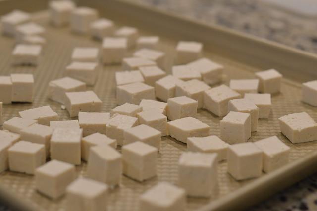Tofu Stirfry with cauliflower rice