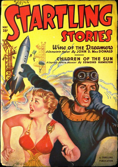 Startling Stories Vol. 21, No. 2 (May, 1950). Uncredited Cover Art may be by Earle Bergey.