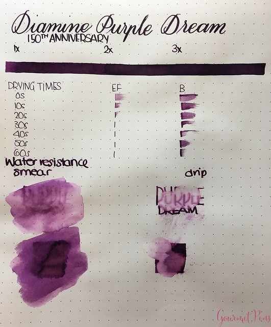 Ink Shot Review Diamine Anniversary Purple Dream @AppelboomLaren 2