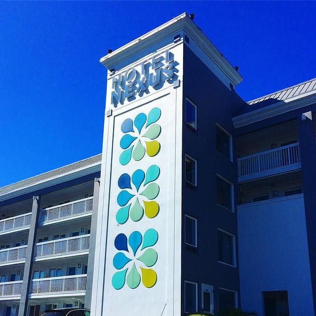 I like the Hotel Nexus sign 💦💦💦