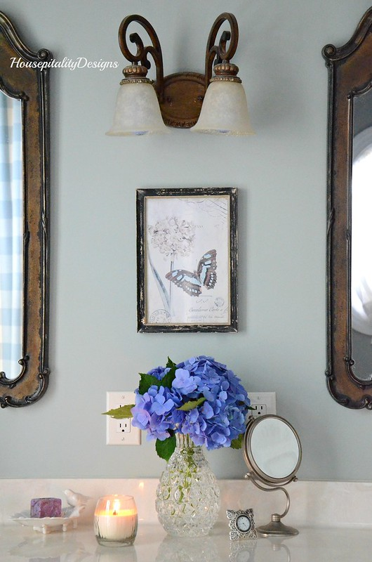 Master Bath-Hydrangeas-Housepitality Designs