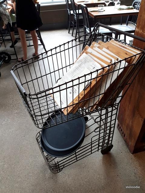 repurposed shopping cart