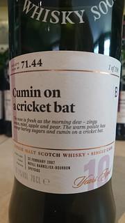 SMWS 71.44 - Cumin on a cricket bat