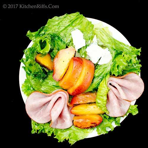 Roast Peach Salad