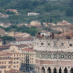 Sightseers on the top of the Campanile di Giotto