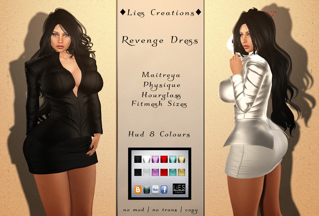Revenge Dress w.HUD - SecondLifeHub.com