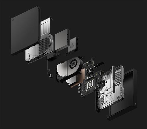 Xbox-One-X-Console-Explode-Dark-Gray