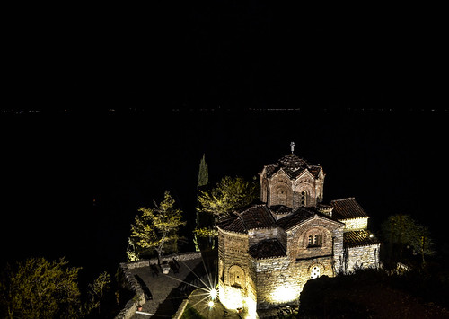 ohrid macedonia fyrom охрид македонија city downtown beautiful sight sights view panorama perspective angle composition balkan europe world famous church temple orthodox night nighttime nightphotography longexposure long exposure light quiet peaceful dark darkness contrast landmark scenic picturesque