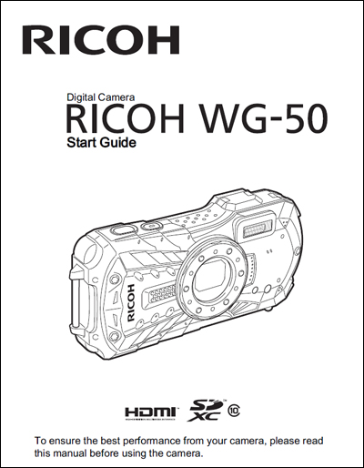 RICOH WG-50 Start Guide