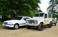 Land Rover and Mercedes