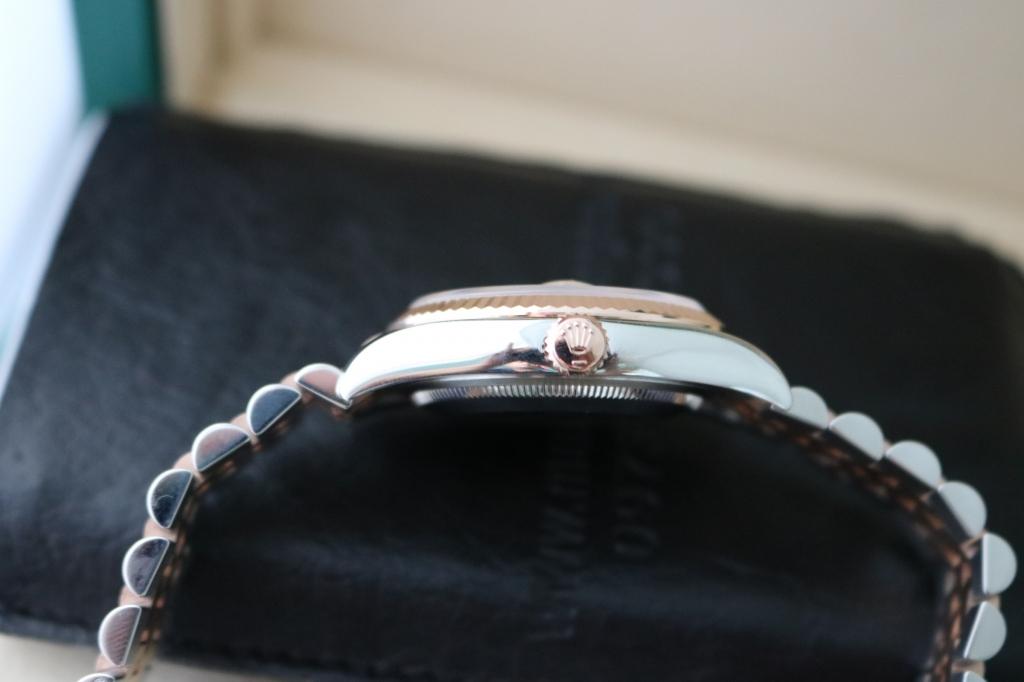 Đồng hồ rolex datejust 6 số 116231 – đè mi vàng hồng – đủ hộp sổ – size 36mm