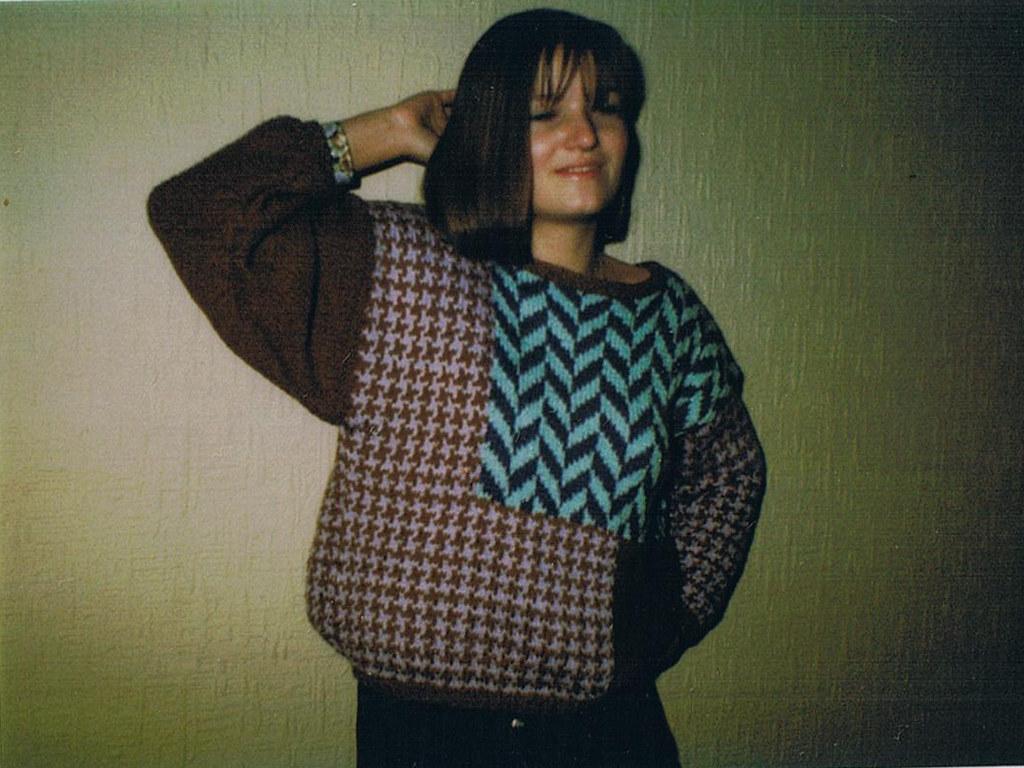 Pullover mit Einstrickmuster