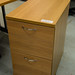 Oak 2 drawer filing cabinet E80