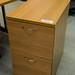 Oak 2 drawer filing cabinet E80