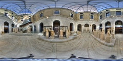 Panorama of the roman patio of the MAN