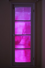 Pink Light Filtering Into The House