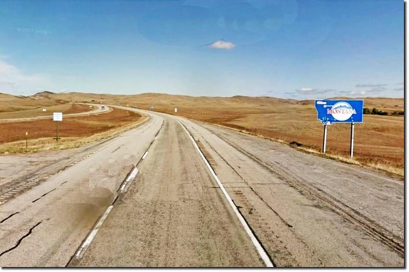 Wyoming、Montana state line