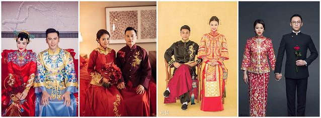 中式禮服,單租禮服,婚紗禮服,龍鳳褂,秀禾服,中式新娘