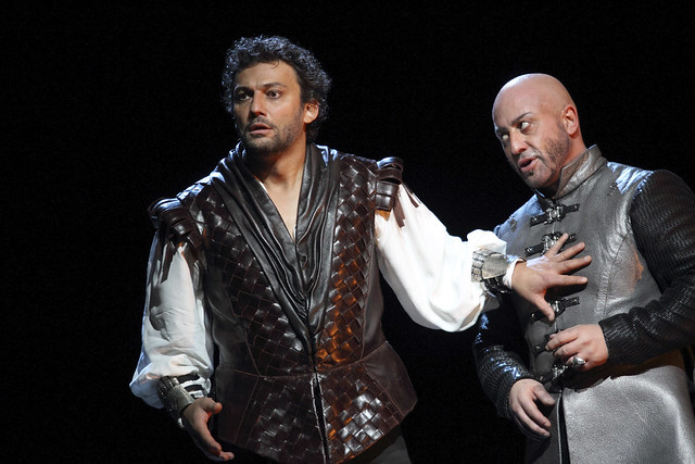Jonas Kaufmann as Otello and Marco Vratogna as Iago in Otello, The Royal Opera © 2017 ROH. Photograph by Catherine Ashmore
