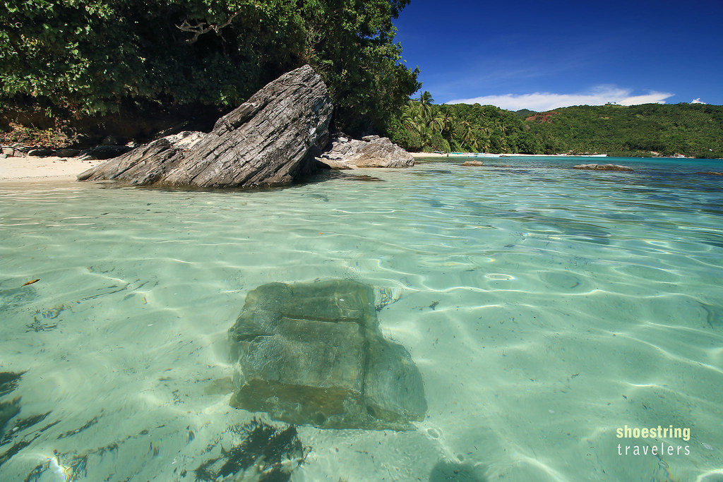 crystal-clear waters at Margie's Beach