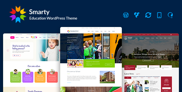 Smarty v2.5 - Education WordPress Theme for Kindergarten, School, College, University