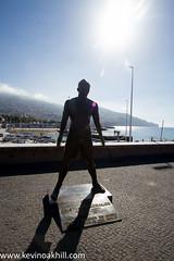 Cristiano Ronaldo statue Madeira holiday June 2017