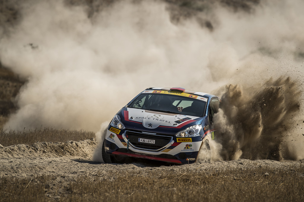 18 MURADIAN Artur (rus) and CHELEBAEV Pavel (rus) NEIKSANS RALLY SPORT PEUGEOT 208 R2 action during the 2017 European Rally Championship ERC Cyprus Rally,  from june 16 to 18  at Nicosie, Cyprus - Photo Gregory Lenormand / DPPI
