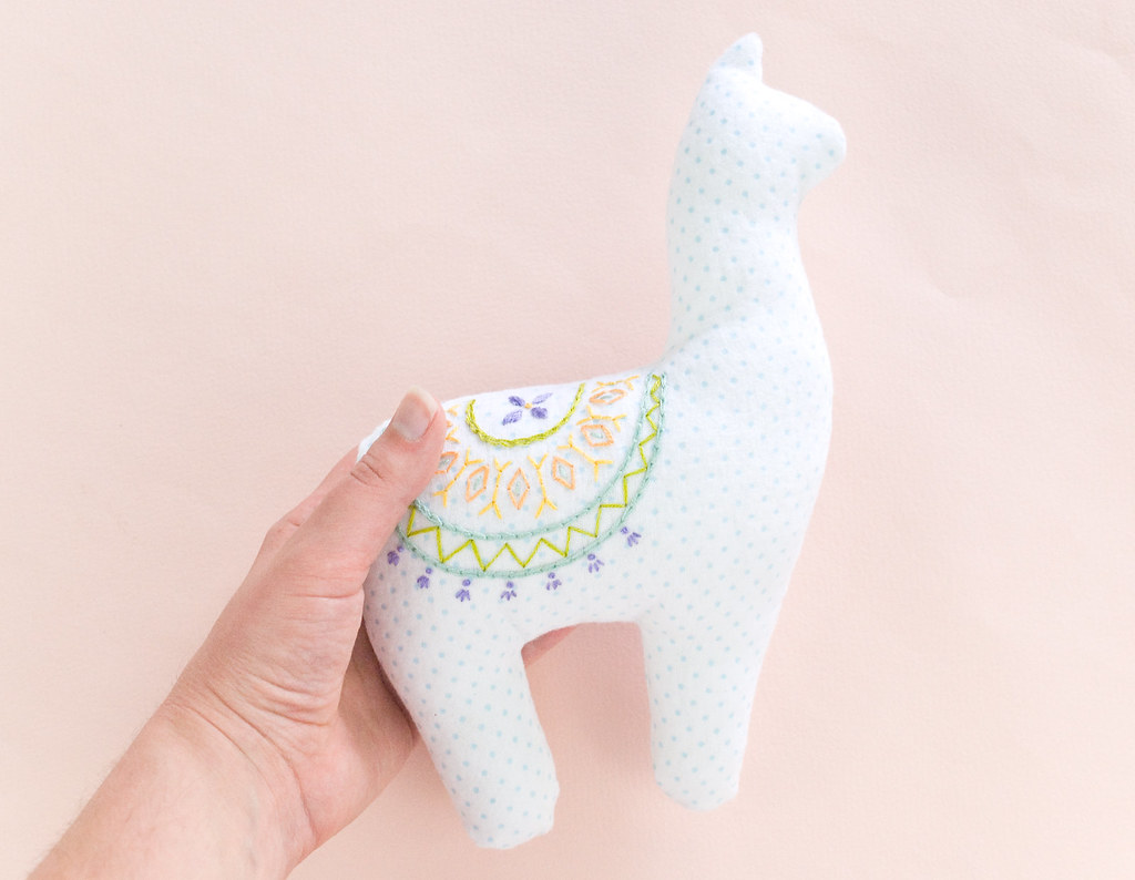 Embroidered Alpaca Plush