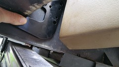 Rear trim - bracket in position (2)