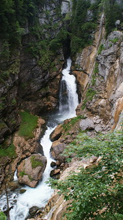 Waterfall over Hallstatt