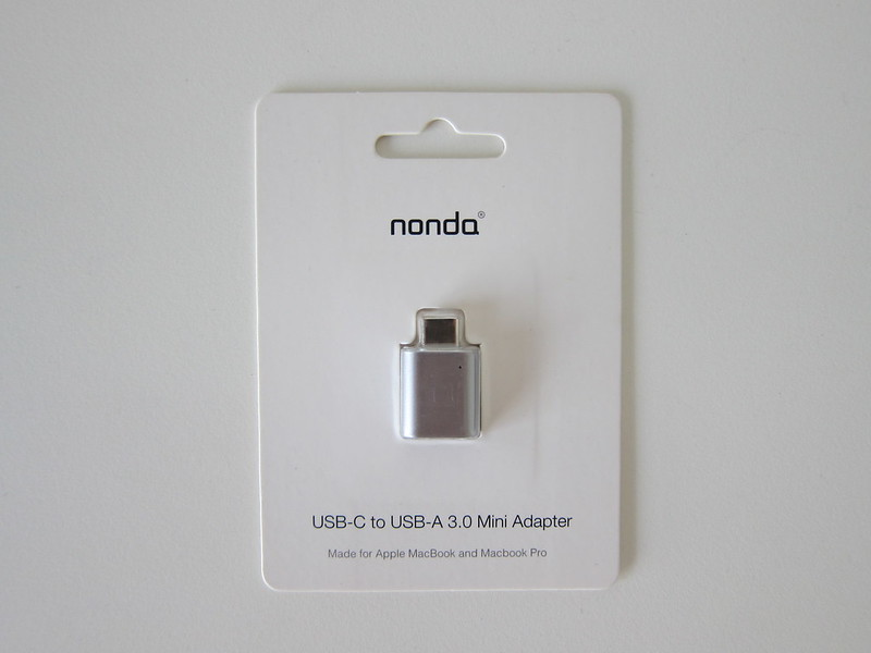 nonda USB-C to USB 3.0 Mini Adapter - Packaging Front