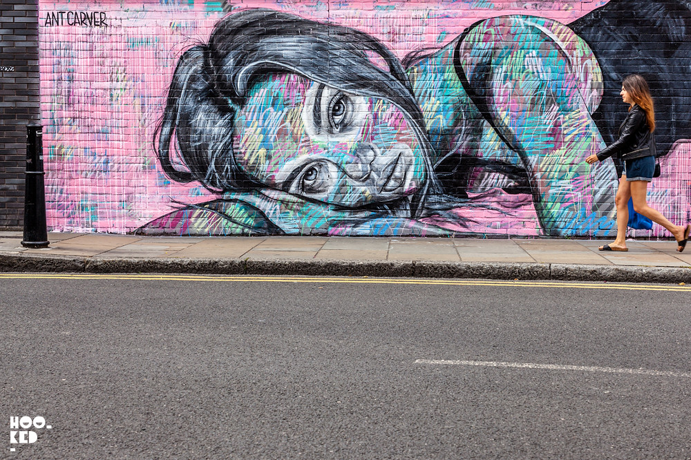 Inka Williams Mural by London Street Artist Ant Carver