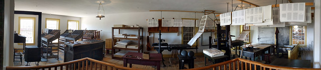 Panorama of the 2nd floor print shop