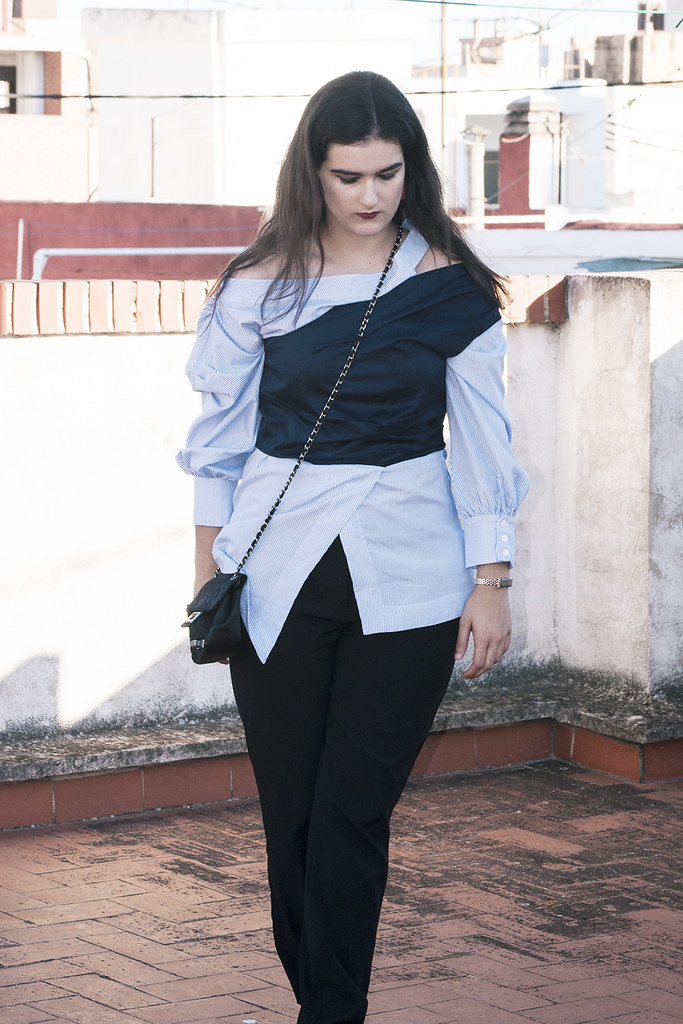 valencia something fashion blogger spain influencer streetstyle lightinthebox blue shirt work_0296 copia