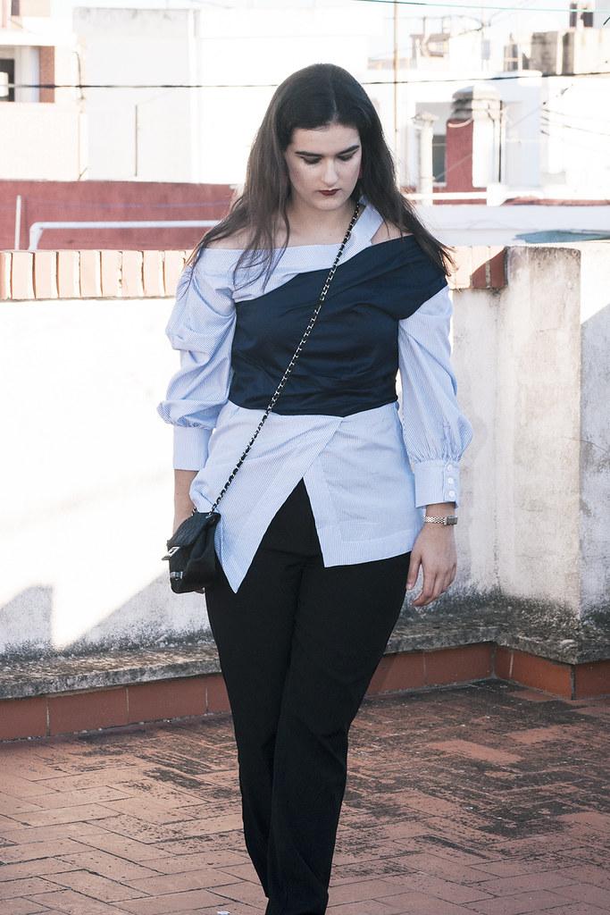 valencia something fashion blogger spain influencer streetstyle lightinthebox blue shirt work_0296 copia