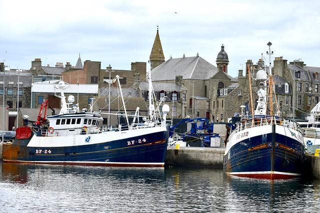 BF24 Serenity & FR152 Ocean Trust Fraserburgh Fishing Harbour Scotland 2017