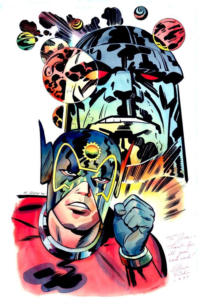 Darkseid Orion by Steve Rude full color
