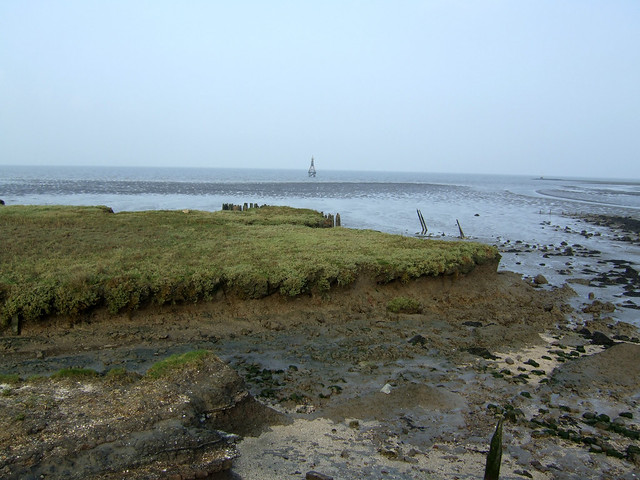 The coast east of Allhallows-on-Sea