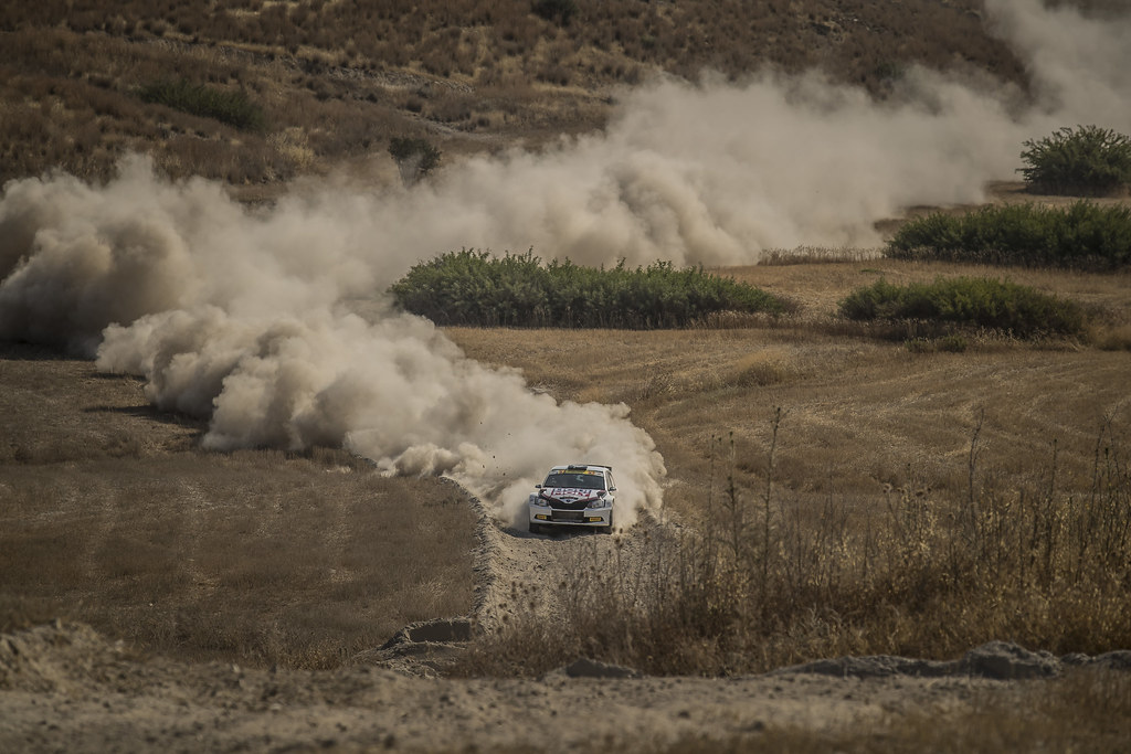 04 GRYAZIN Nikolay (lva) and FEDOROV Yaroslav (rus) SPORTS RACING TECHNOLOGIES SKODA FABIA R5 action during the 2017 European Rally Championship ERC Cyprus Rally,  from june 16 to 18  at Nicosie, Cyprus - Photo Gregory Lenormand / DPPI