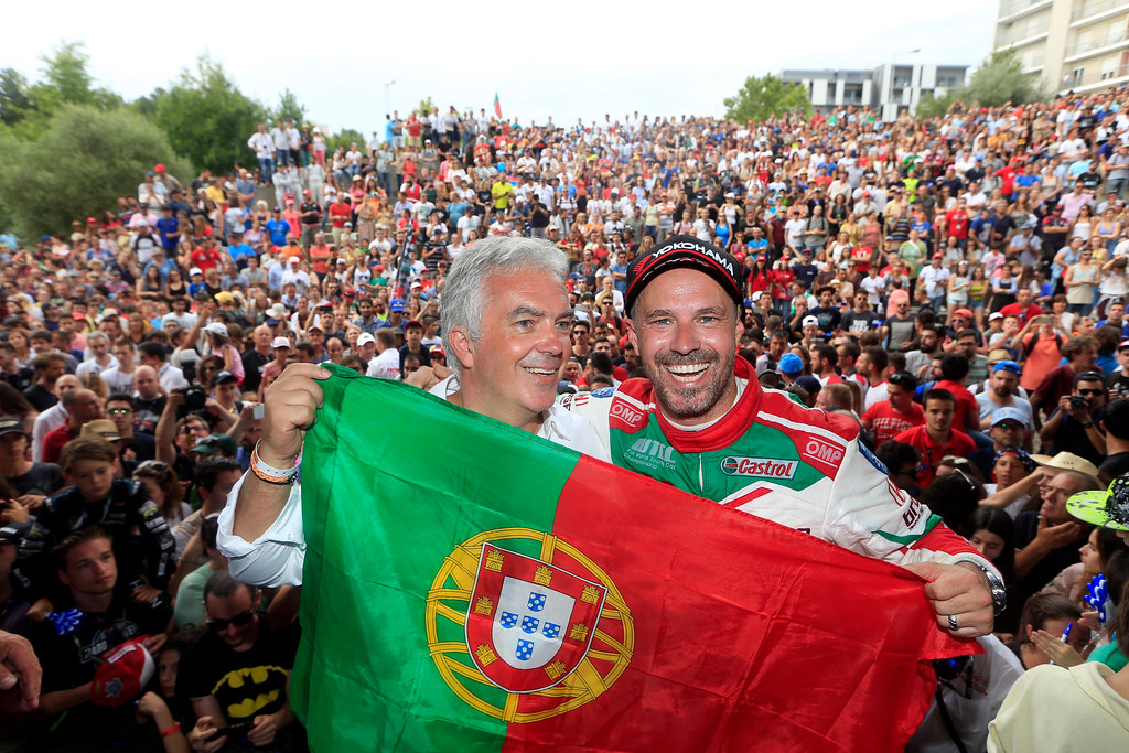 MONTEIRO Tiago (prt) Honda Civic team Castrol Honda WTC ambiance portrait SANTOS Rui during the 2017 FIA WTCC World Touring Car Championship race of Portugal, Vila Real from june 23 to 25 - Photo Paulo Maria / DPPI