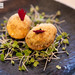 Gol Goppa - popular roadside snack, Crisp semolina balls dipped in tangy avory chutney