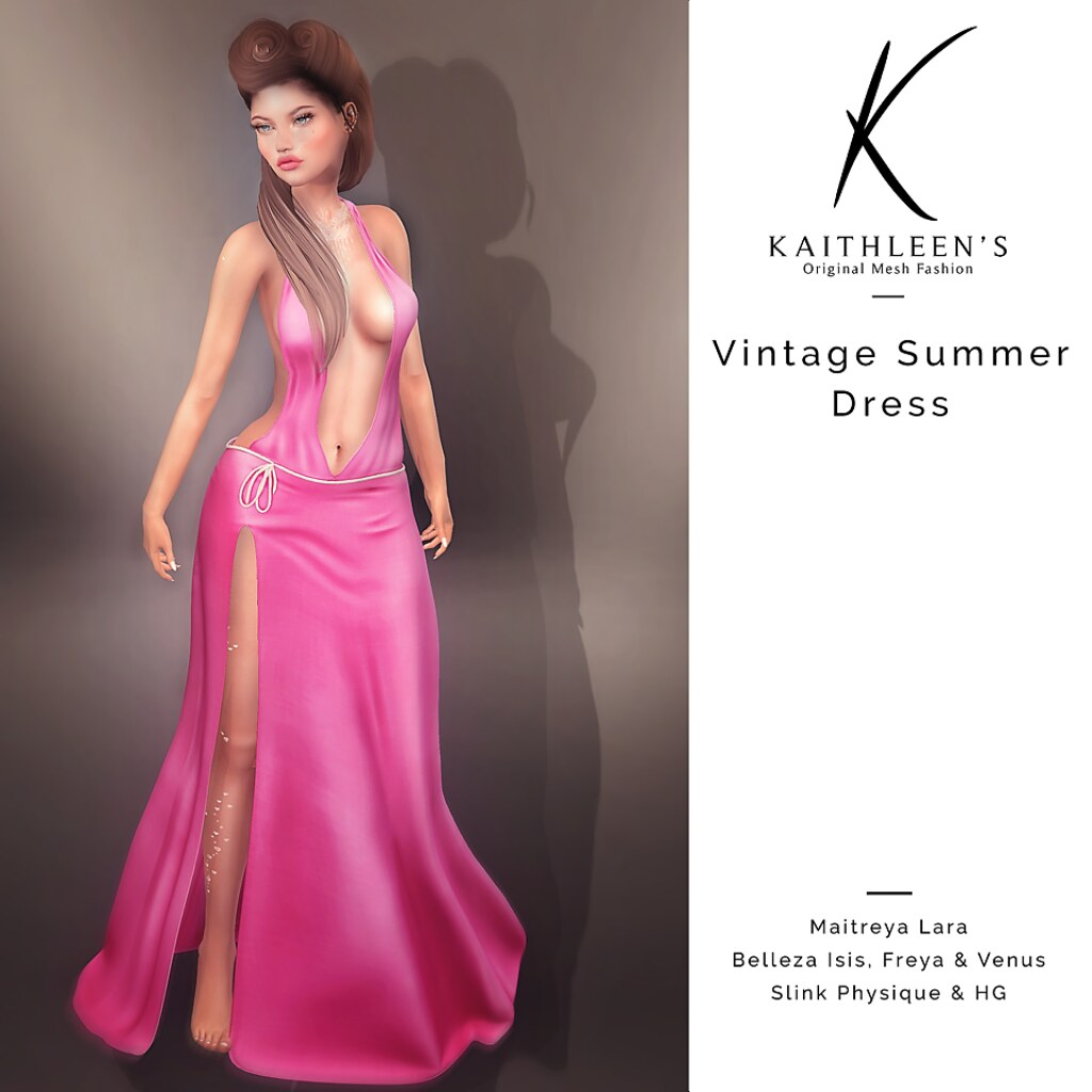 Kaithleen's Vintage Summer Dress - SecondLifeHub.com