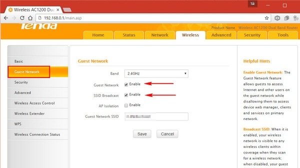 Hướng dẫn cách ẩn tên wifiTenda 5