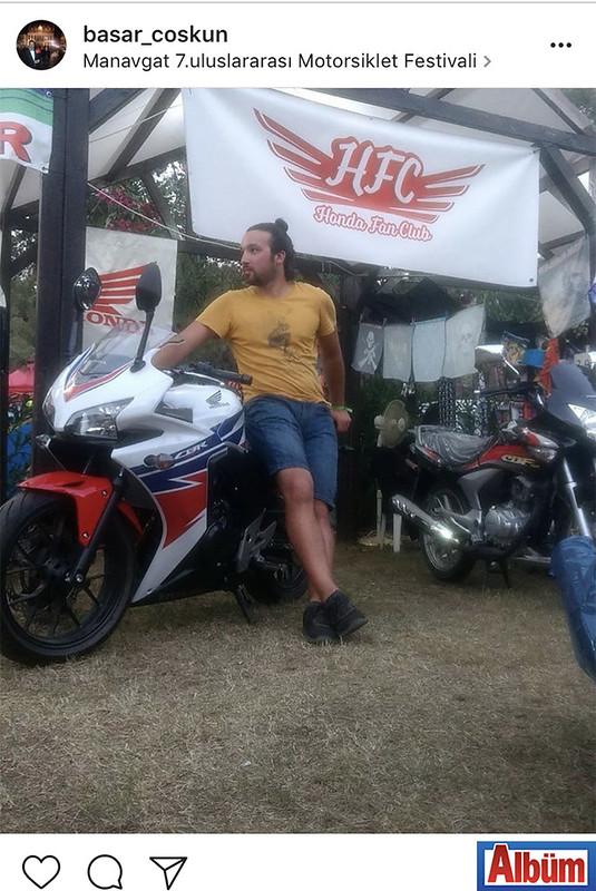 Başar Coşkun, Manavgat'ta düzenlenen 7. Uluslararası Motosiklet Festivali'ndeydi.