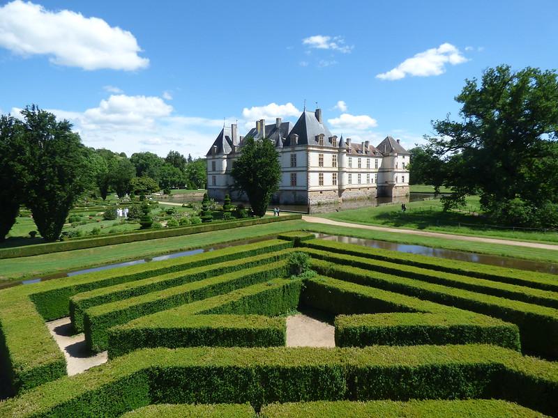 Castillo de Cormatin jardines