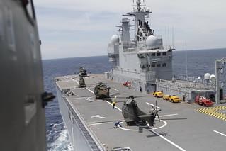 Primera toma en el Dixmude de la Marine Nationale francesa