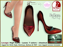 Bliensen - Lovage - High Heels - chestnut
